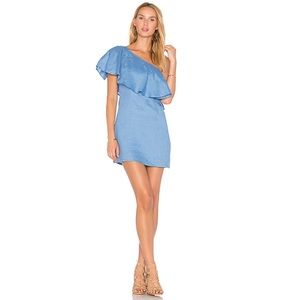 Revolve Capulet Clara One Shoulder Linen Dress